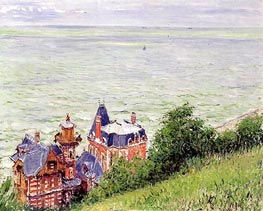 Villas at Trouville | Caillebotte | Gemälde Reproduktion