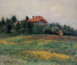 Norman Landscape | Caillebotte | Painting Reproduction