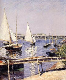 Sailing Boats at Argenteuil | Caillebotte | Painting Reproduction