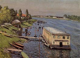 Boathouse in Argenteuil | Caillebotte | Painting Reproduction