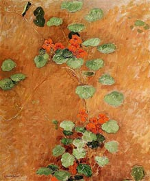 Nasturtiums, 1892 by Caillebotte | Painting Reproduction