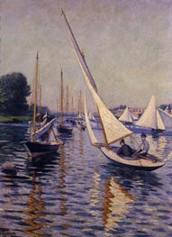 Regatta at Argenteuil, 1893 by Caillebotte | Painting Reproduction
