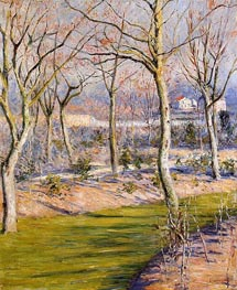 The Garden at Petit Gennevilliers in Winter | Caillebotte | Painting Reproduction