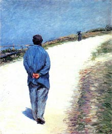 Man in a Smock, 1884 by Caillebotte | Painting Reproduction