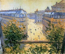 Rue Halevy Balcony View | Caillebotte | Painting Reproduction