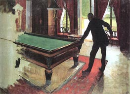 Billiards | Caillebotte | Painting Reproduction