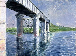 The Bridge at Argenteuil, c.1885/87 by Caillebotte | Painting Reproduction