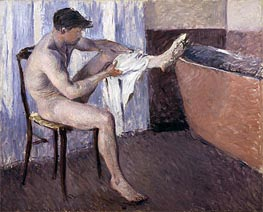 Man Drying his Leg | Caillebotte | Painting Reproduction