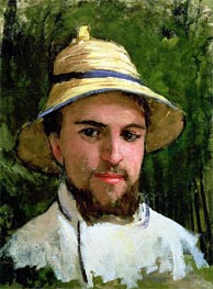 Self Portrait with Pith Helmet | Caillebotte | Painting Reproduction