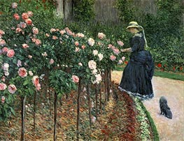 Roses in the Garden at Petit Gennevilliers | Caillebotte | Painting Reproduction