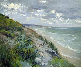 Cliffs by the Sea at Trouville, undated von Caillebotte | Gemälde-Reproduktion