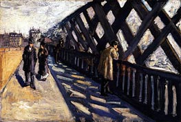 Study for Le Pont de l'Europe, 1876 by Caillebotte | Painting Reproduction