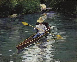 Canoe on the Yerres River, 1878 von Caillebotte | Gemälde-Reproduktion