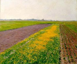 The Flatness of Gennevilliers, 1884 von Caillebotte | Gemälde-Reproduktion