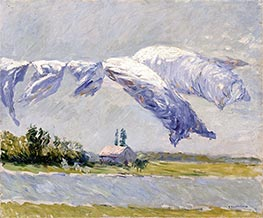 Laundry Drying, Petit Gennevilliers, 1888 by Caillebotte | Painting Reproduction