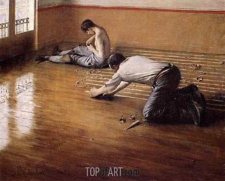The Floor Scrapers (variation), 1876 | Caillebotte | Painting Reproduction