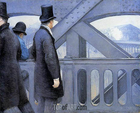 The Pont de Europe, c.1876/77 | Caillebotte | Painting Reproduction