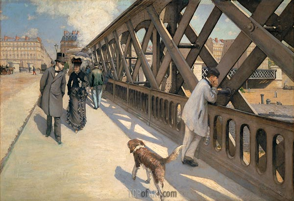 The Pont de Europe, 1876 | Caillebotte | Painting Reproduction