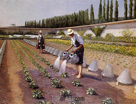 The Gardeners, c.1875/77 | Caillebotte | Painting Reproduction