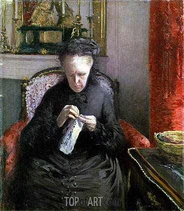 Portrait of Madame Martial Caillebotte, 1877 | Caillebotte | Painting Reproduction
