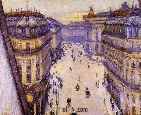 Rue Halevy, Seen from the Sixth Floor, 1878 | Caillebotte | Painting Reproduction
