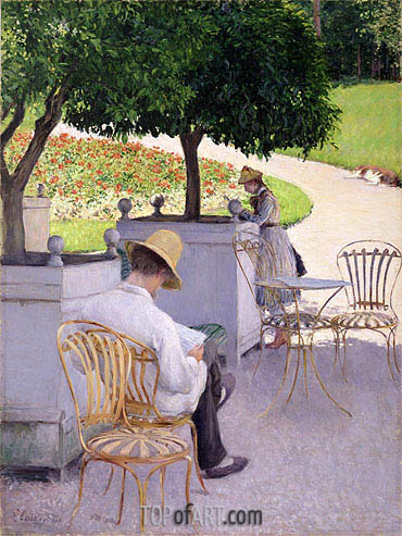 Orange Trees, 1878 | Caillebotte | Painting Reproduction
