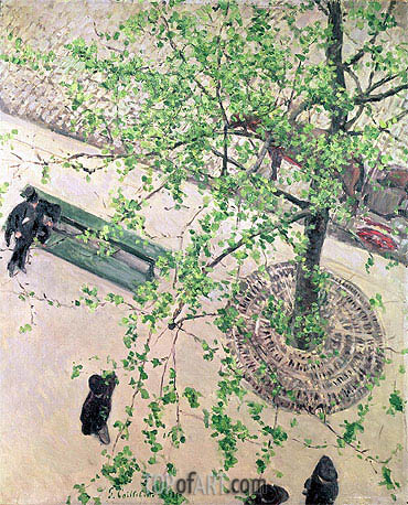 Boulevard seen from Above, 1880 | Caillebotte | Gemälde Reproduktion
