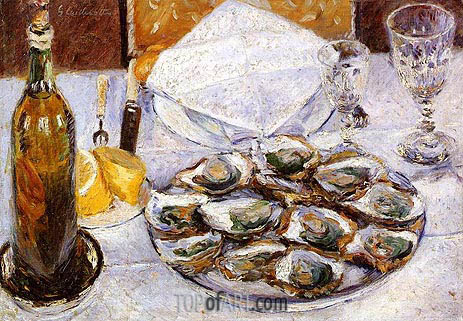 Still Life with Oysters, 1881 | Caillebotte | Painting Reproduction