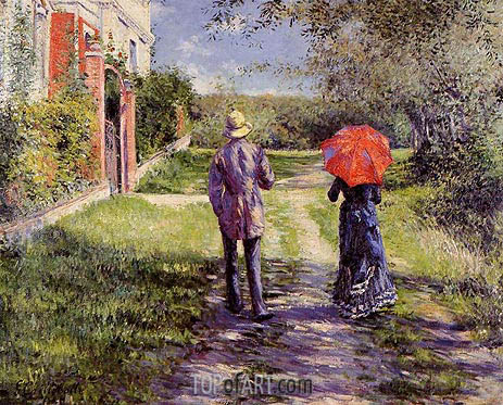 Rising Road, 1881 | Caillebotte | Painting Reproduction