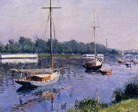 The Basin at Argenteuil, c.1882 | Caillebotte | Painting Reproduction