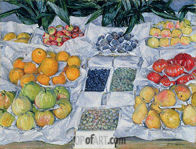 Fruit Displayed on a Stand, c.1881/82 | Caillebotte | Gemälde Reproduktion