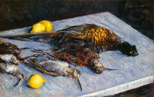 Game Birds and Lemons, 1883 | Caillebotte | Painting Reproduction