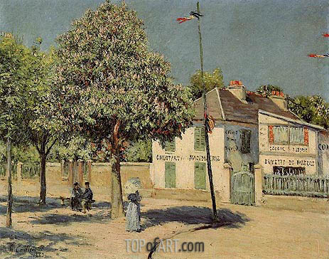 The Argenteuil Promenade, 1883 | Caillebotte | Painting Reproduction