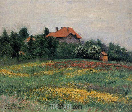 Norman Landscape, 1884 | Caillebotte | Painting Reproduction