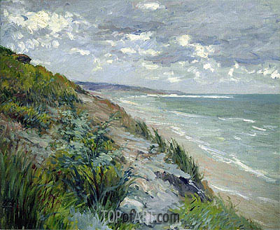 Cliffs by the Sea at Trouville, undated | Caillebotte | Gemälde Reproduktion