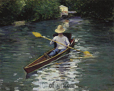 Canoe on the Yerres River, 1878 | Caillebotte | Painting Reproduction