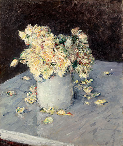 Yellow Roses in a Vase, 1882 | Caillebotte | Painting Reproduction