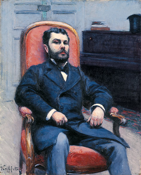 Portrait of Richard Gallo, 1878 | Caillebotte | Painting Reproduction