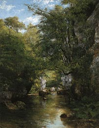 The Water Stream, La Breme, 1866 by Courbet | Painting Reproduction
