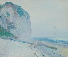 Foggy Morning, Veules (Normandy Coast), c.1909 by Guy Rose | Painting Reproduction