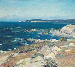 Carmel Seascape (A Blue Sea, Carmel), Undated by Guy Rose | Painting Reproduction