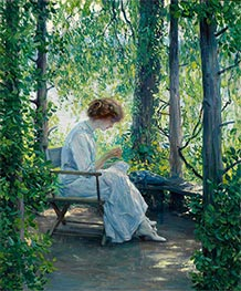 Woman Sewing, Undated by Guy Rose | Painting Reproduction