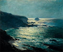 Moonlight - Arch Beach, Laguna, c.1916/19 by Guy Rose | Painting Reproduction