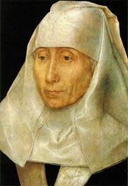 Portrait of an Old Woman, c.1468/70 by Hans Memling | Painting Reproduction