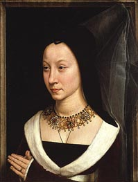 Maria Portinari (Maria Maddalena Baroncelli, c.1470 by Hans Memling | Painting Reproduction