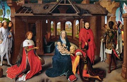 The Adoration of the Magi, c.1470/72 by Hans Memling | Painting Reproduction