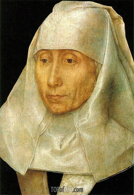 Portrait of an Old Woman, c.1468/70 | Hans Memling | Painting Reproduction