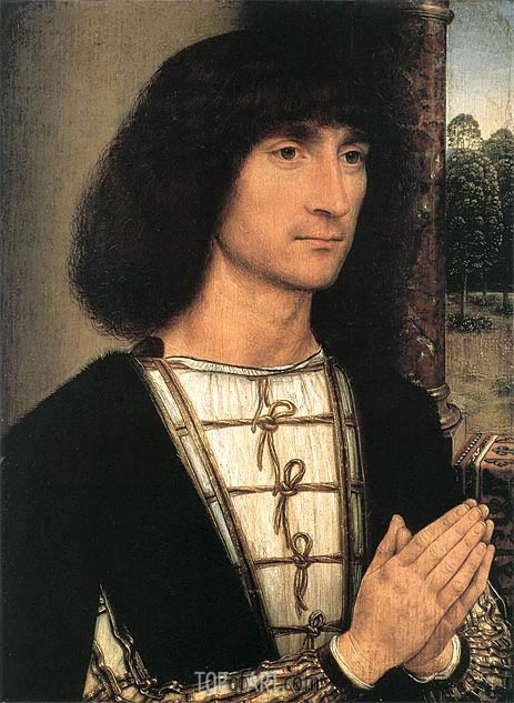 Young Man at Prayer, c.1485 | Hans Memling | Gemälde Reproduktion