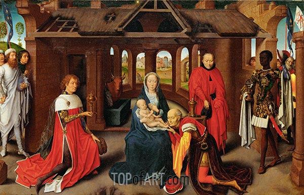 The Adoration of the Magi, c.1470/72 | Hans Memling | Painting Reproduction