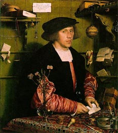 Portrait of the Merchant Georg Gisze, 1532 by Hans Holbein | Painting Reproduction
